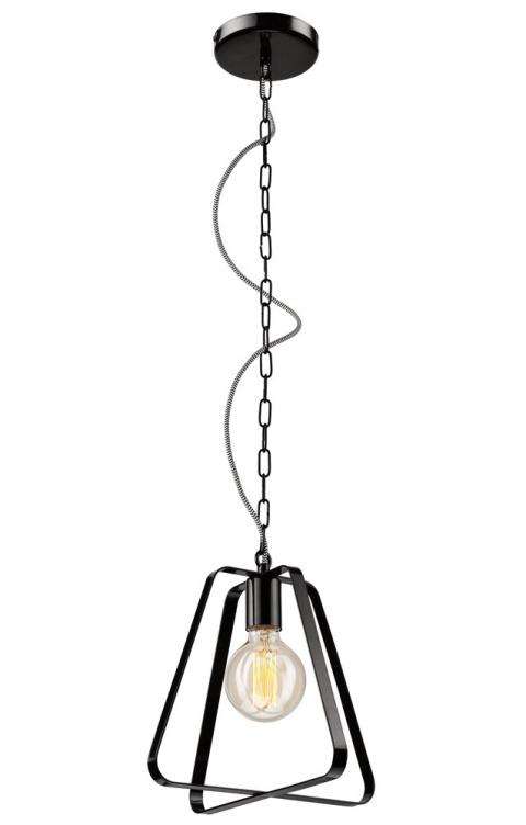 1 LAMPA WISZĄCA RICCARDO METAL LOFT, VINTAGE, INDUSTRIAL CZARNA